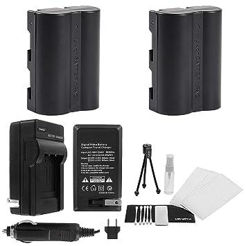 Amazon.com: D-LI50 Batería 2-Pack Bundle con rápido cargador ...
