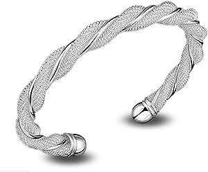 Lingstar SG925 - Pulsera para mujer (plata maciza)
