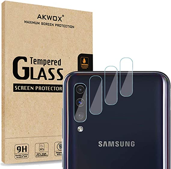 Anti-Scratch,Dustproof,High Transmittance 4 Pack AKWOX Compatible Samsung Galaxy S9 Camera Lens Protector Ultra Thin 0.2mm 9H Hard Tempered Glass Camera Lens Protector for Samsung Galaxy S9