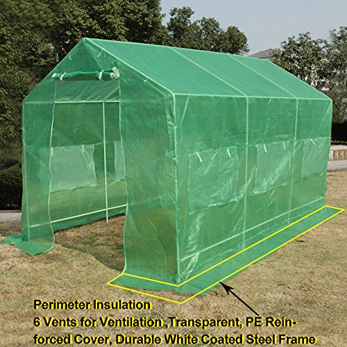 Amazon Anniversary Sale! Quictent® 12'x7'x7' Portable Backyard Large Greenhouse Green Garden Hot House New