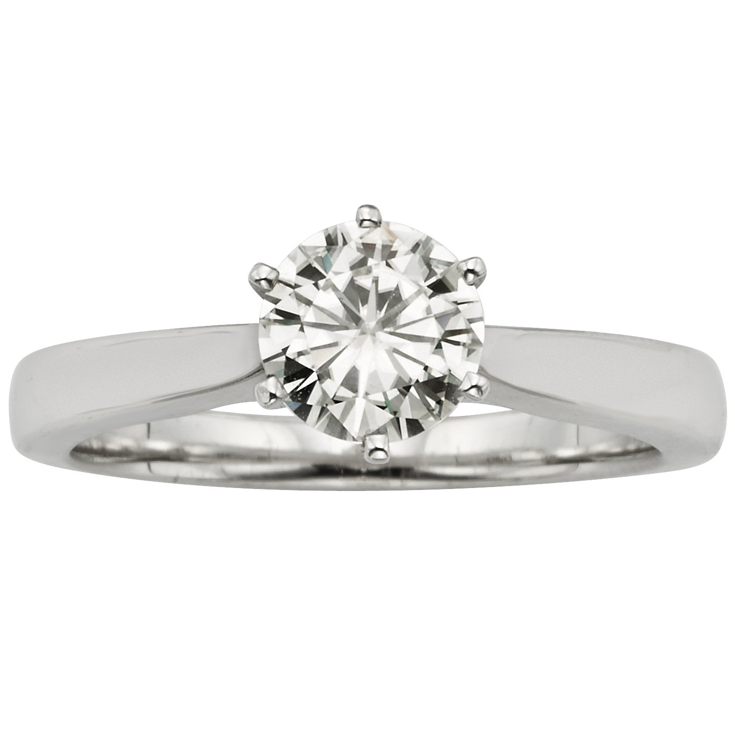 Forever Classic Round 6.5mm Moissanite Engagement Ring-size 7, 1.00ct DEW By Charles & Colvard
