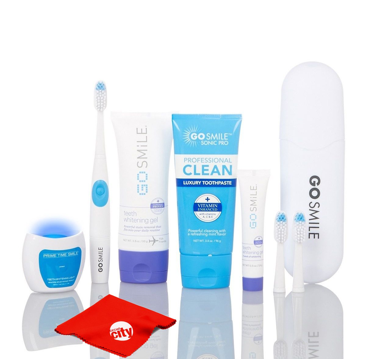 Go Smile Elite Pro Teeth Whitening System with Advanced Gel, Toothpaste, Electric Toothbrush and UV Light
