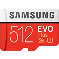 Samsung EVO Plus Class 10 Micro SDXC with Adapter, 512GB (MB-MC512GA)