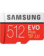 Samsung Memory MB-MC512GAEU 512 GB EVO Plus Micro SD Karte mit Adapter