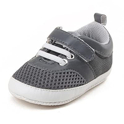 Fabal Baby Boys And Girls Casual Sports Shoes Soft Bottom Prewalker Kids Sneakers Solid