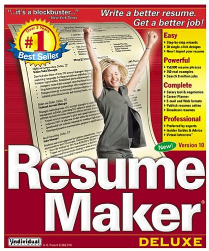 amazoncom resume maker deluxe 100 - Free Professional Resume Builder
