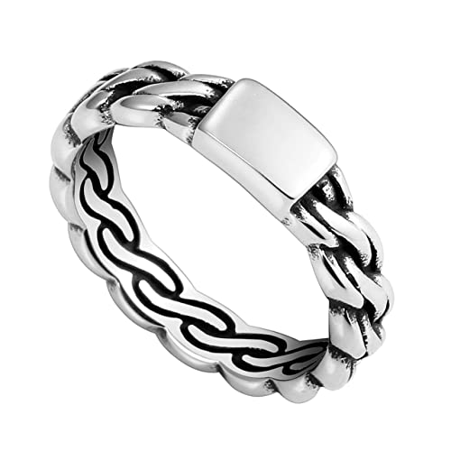 Amazon.com: PiercingJ - Anillo de acero inoxidable trenzado ...