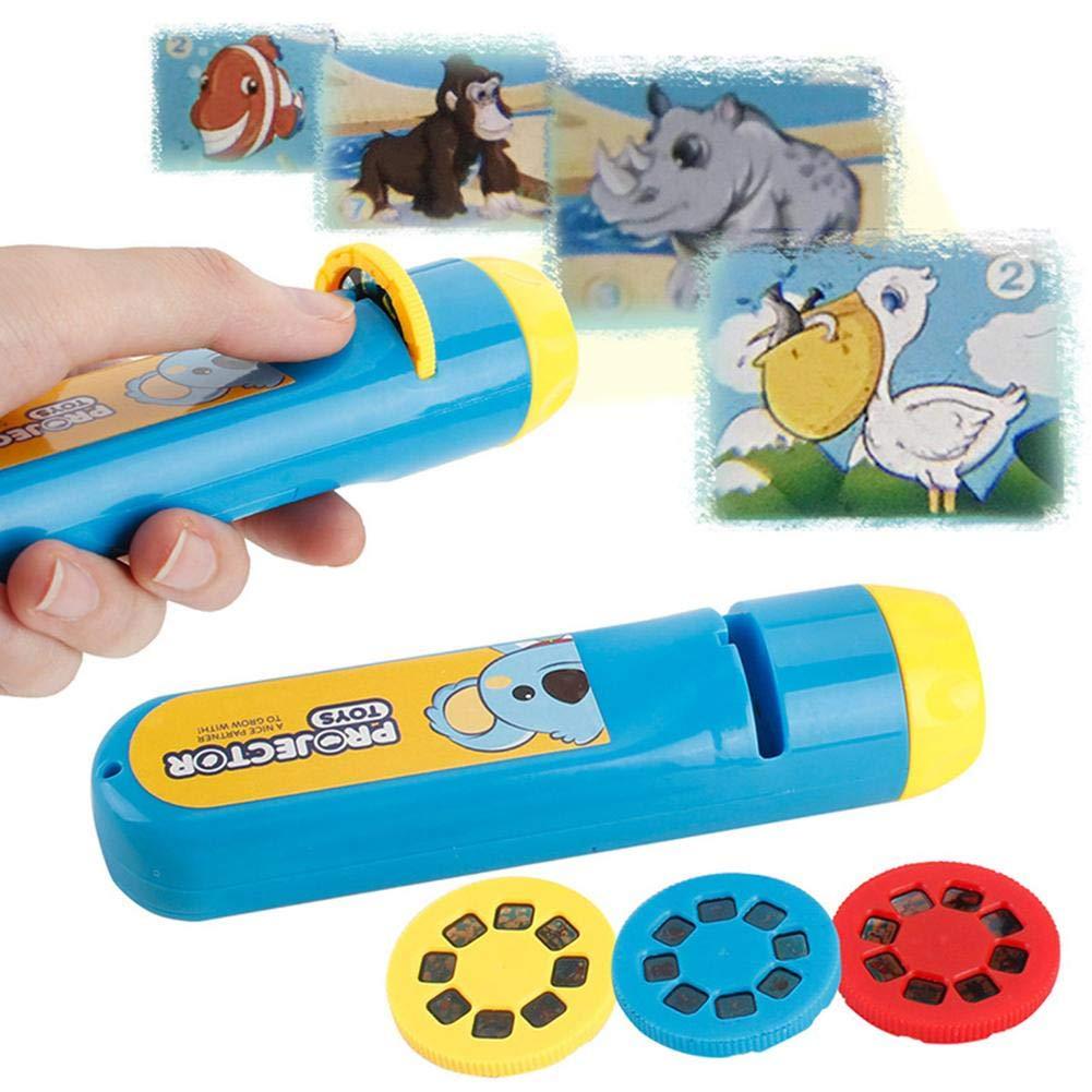 Erleuchtung kognitive reiche Tierbilder Nachtlicht Jungen und M/ädchen Intelligenz Anbau Taschenlampe Spielzeug Geschenk f/ür Kleinkinder cuckoo-X Baby-Taschenlampe Projektor Taschenlampe