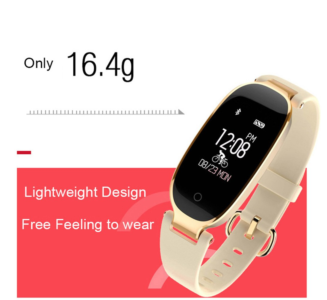 Amazon.com: SHENGMO Bluetooth Waterproof S3 Smart Watch Fashion Women Ladies Heart Rate Monitor Smartwatch relogio inteligente For Android IOS reloj (gold): ...