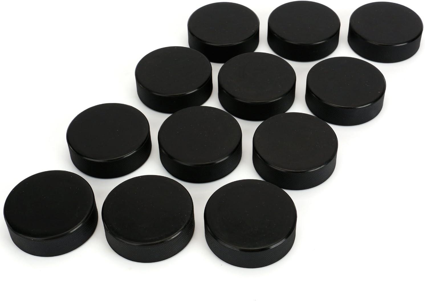 Faswin Lot de 12 palets de hockey sur glace classiques