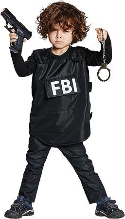 FBI de chaleco infantil Disfraz Agent Policía Carnaval: Amazon.es ...