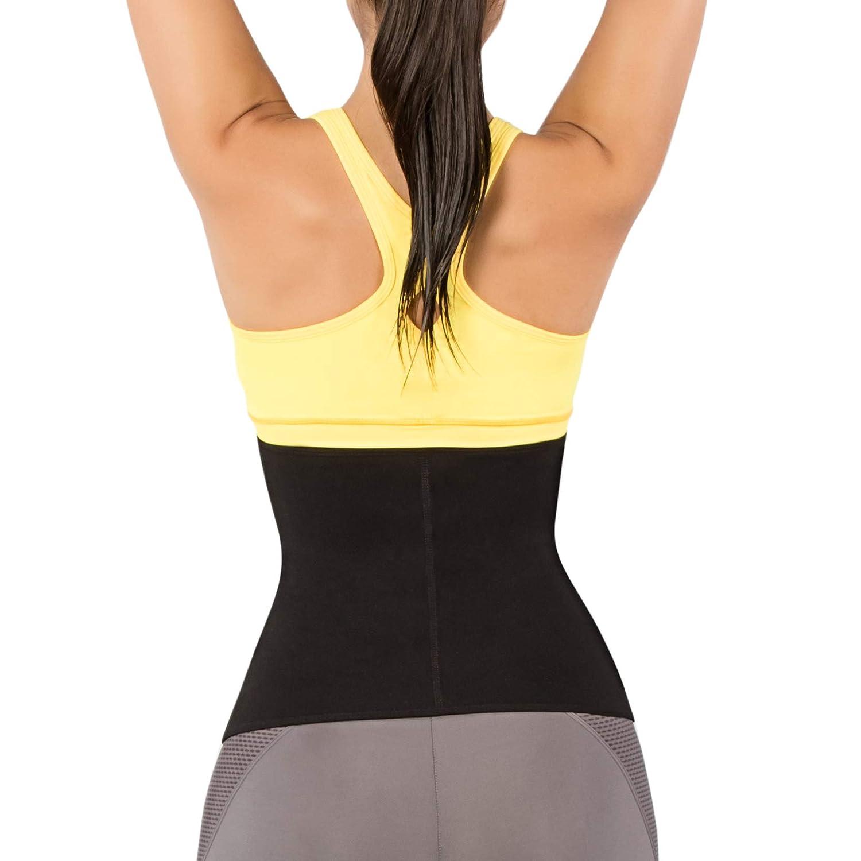 1447bb6e30a89 Amazon.com   Hot Shapers Hot Belt Waist Cincher - Stomach Body Shaper for  Womens Tummy   Sports   Outdoors