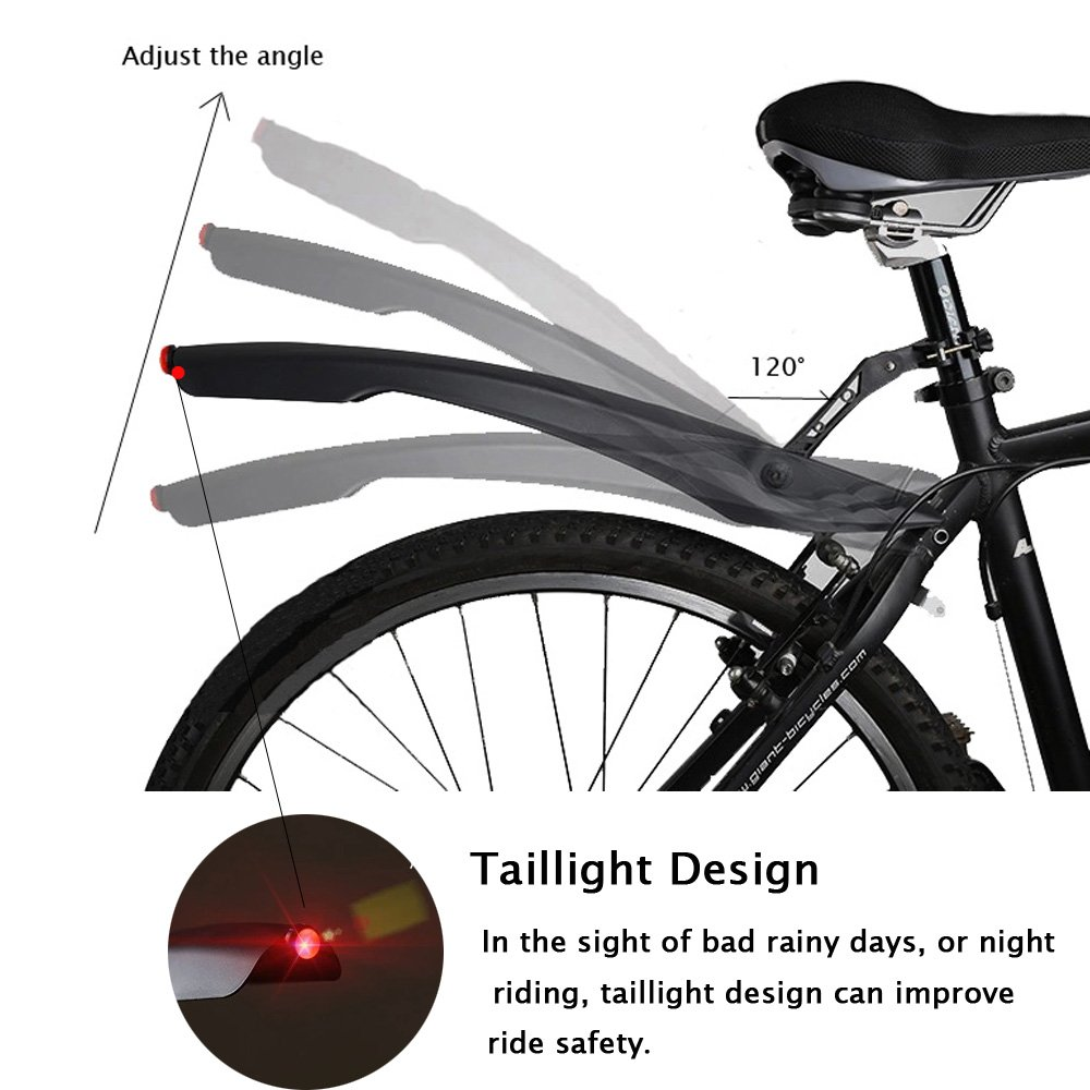 Mordely Bicycle Fender Set with Widen and Deepen The Fender Mountain Bike Front Rear Mudguard with Installation Tools