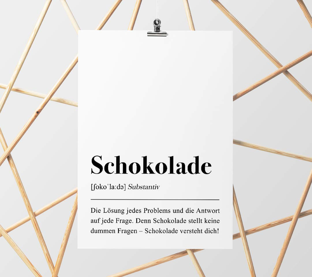 Kuche Dekoration Schwarz Weiss Schokolade Definition Din A4 Poster