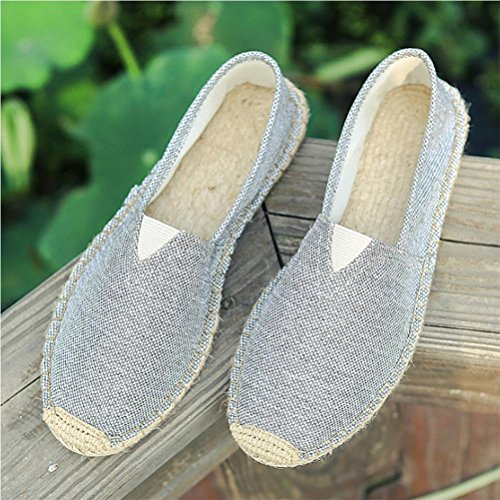 Eté chaussures de toile masculines chaussures en chèvre en paille chaussures paraboliques chaussures de chanvre grey 41