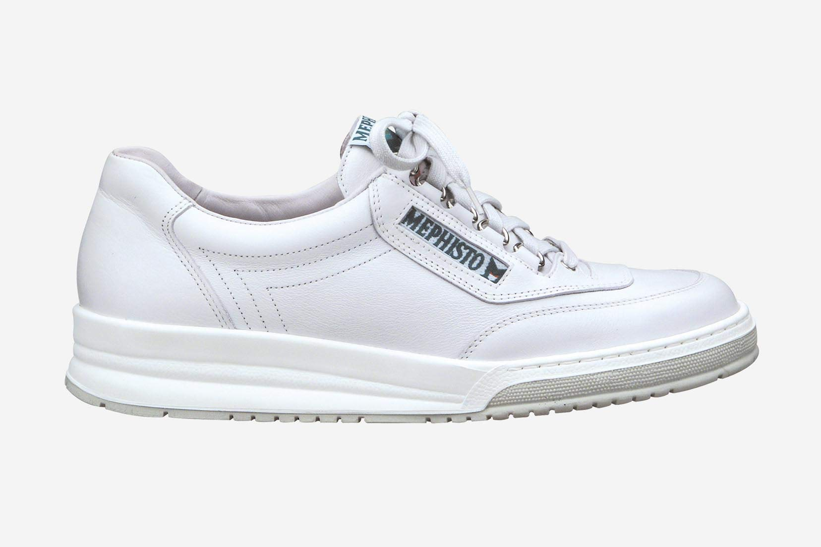 c2d87f93333a93 Galleon - Mephisto Men s Match Sneakers White Leather 47 (US Men s 13)