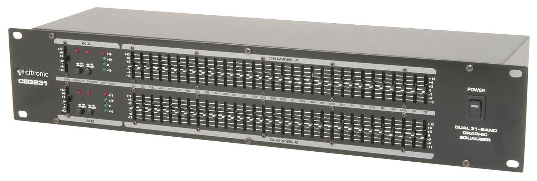 QTX EQ-231 Equalizer graphischer Equalizer (31-Band, 2-Kanlal, sehr gute Anschlüsse) schwarz 170.926UK