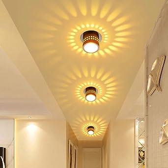 Deckenleuchte LED Wandleuchte Wandlampe Dimmbar Innen Wandlicht Flurlampe  Spirale Effekt für Flur Schlafzimmer Balkon Wohnzimmer Badezimmer Treppen  ...