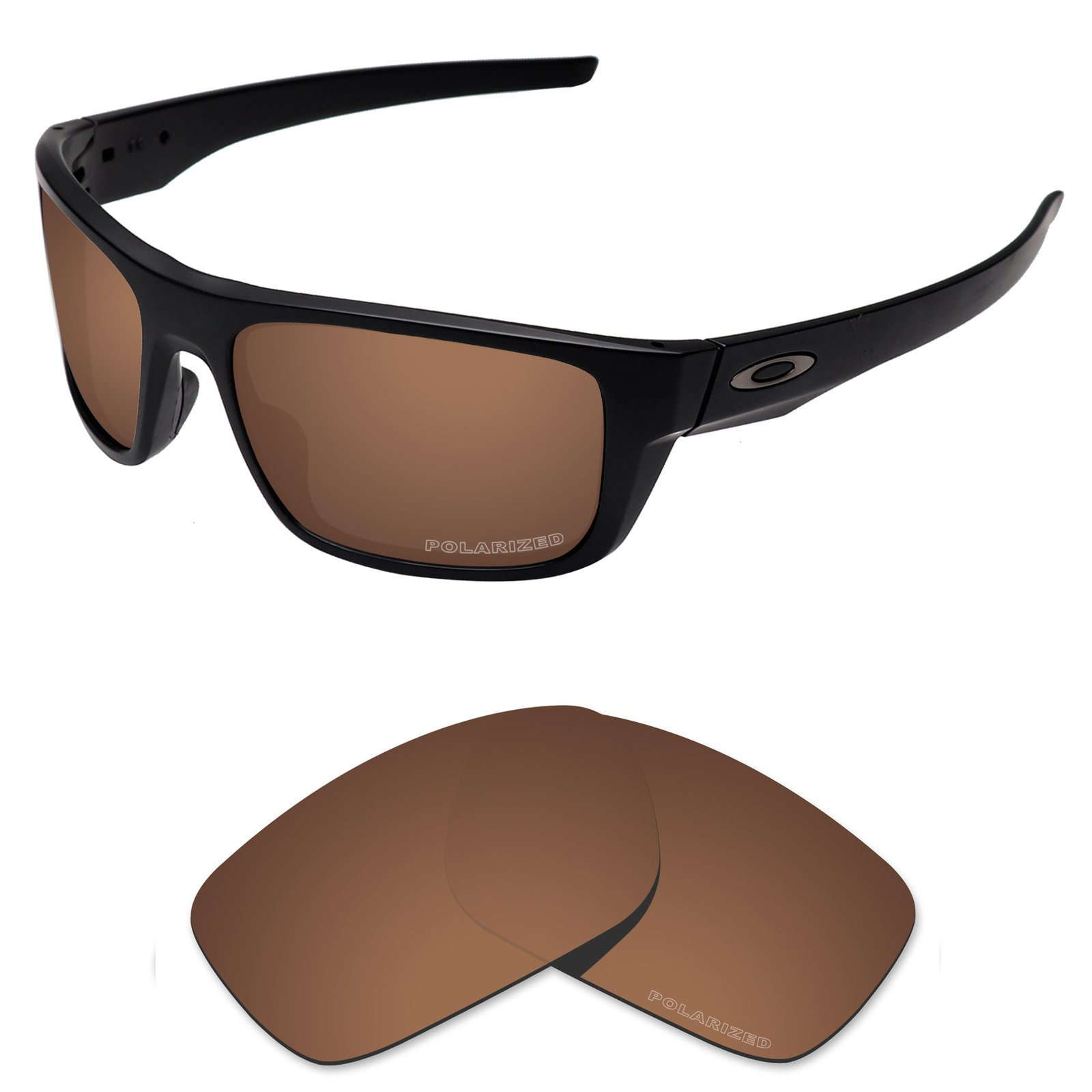 Tintart Performance Replacement Lenses for Oakley Drop Point Sunglass Polarized Etched-Nut Brown