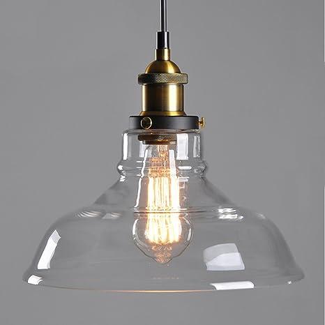 E27 de vidrio ámbar de la lámpara de techo de montaje de sombra retro del pendiente de la luz de la lámpara