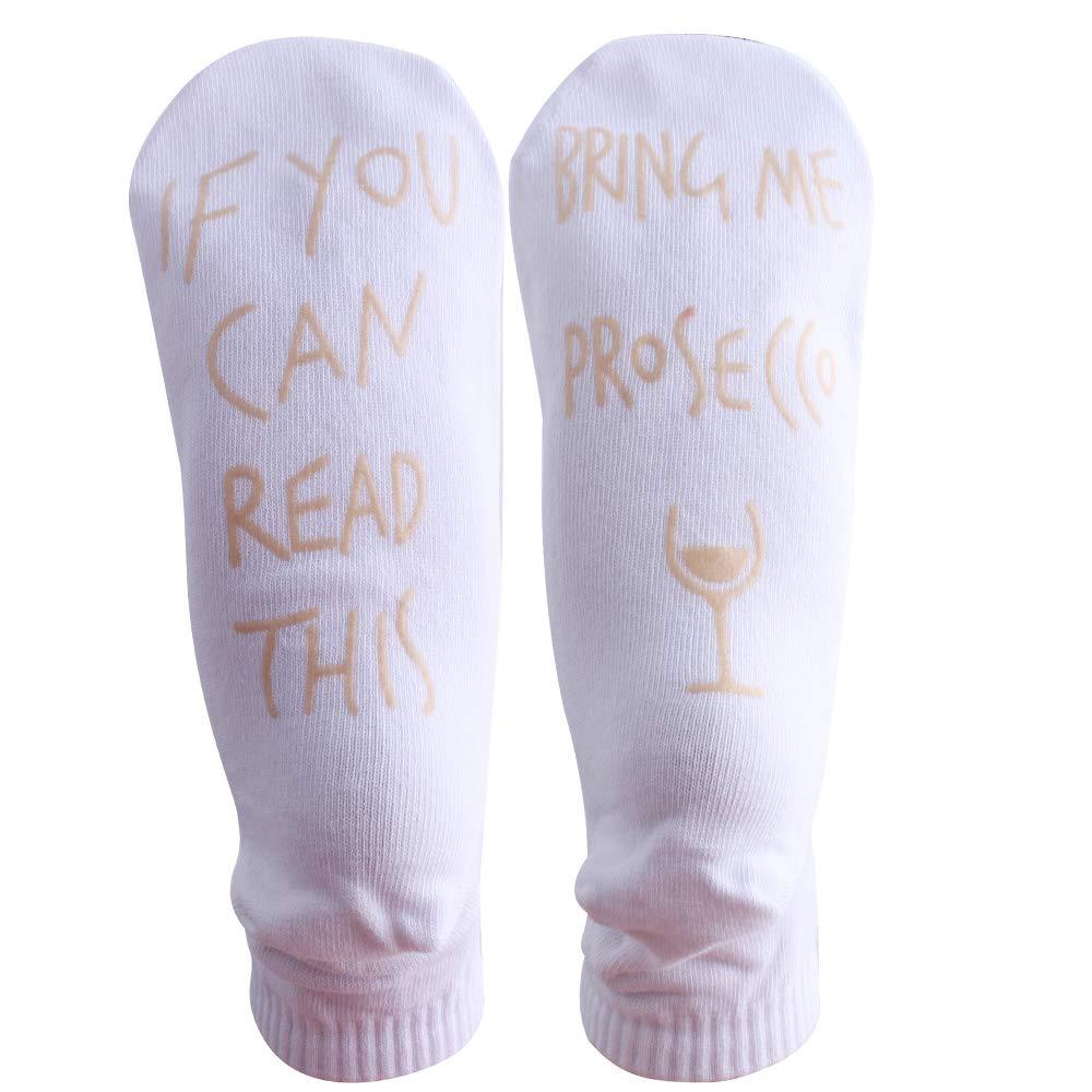 Defrsk 4 Pairs IF YOU CAN READ THIS blague Chaussettes Cadeaux dr/ôles pour les femmes ou les hommes