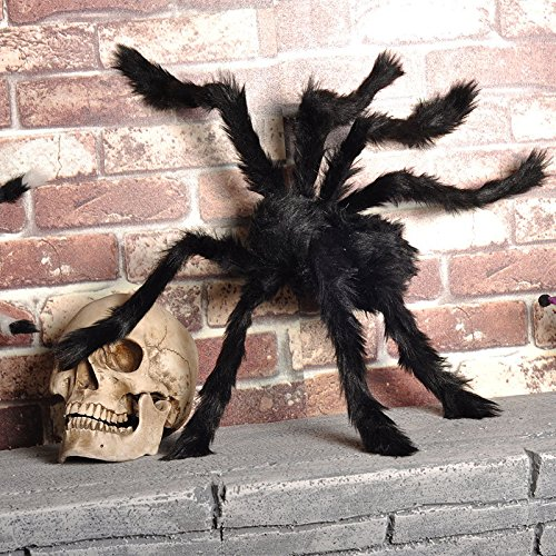 Spider Halloween Decorations (1PCS 35 INCH Halloween Decoration Virtual Realistic Hairy Spider)