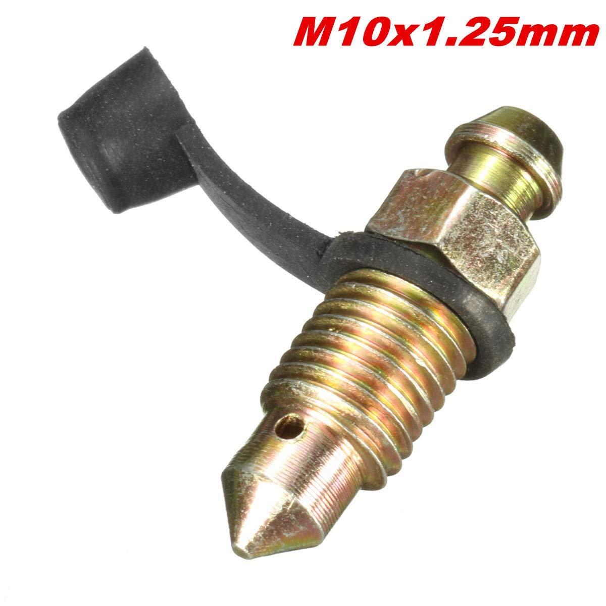 M10 x 1,25 mm Pinza freno Spurgo vite Nipplo Coperchio antipolvere for moto Accessori