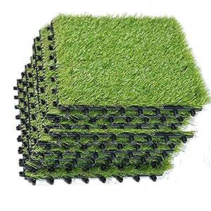 Eco Matrix Artificial Grass Tiles Interlocking Fake Grass
