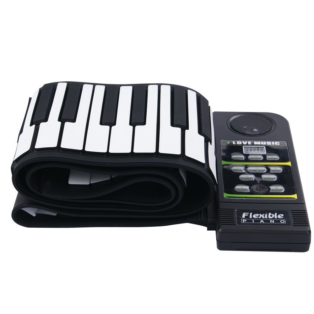 Electronic Hand Roll Piano Portable Folding 88 Keys Thickening Version Silicone Keyboard Children Adult Beginner Musical Instrument(Classic Version) by C Five (Image #2)