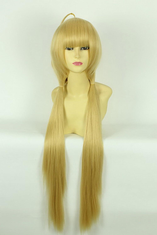 Larga recta peluca rubia cosplay peluca Cenicienta Ídolo Maestro Futaba modelos de la forma de albaricoque peluca cosplay peluca: Amazon.es: Juguetes y ...