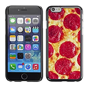 LOVE FOR iPhone 6 Pizza Pepperoni Italian New York Food Personalized Design Custom DIY Case Cover