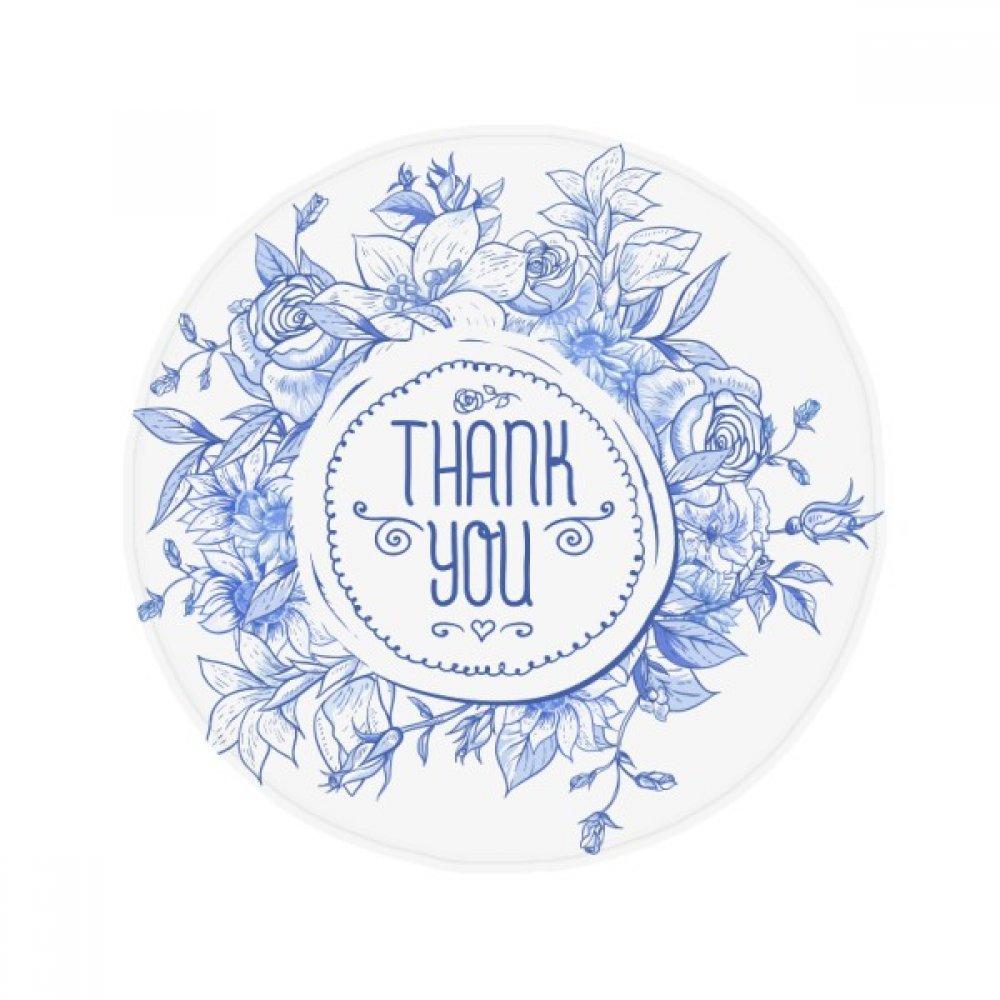 60X60cm DIYthinker bluee Flowers Plants Pattern pink Anti-Slip Floor Pet Mat Round Bathroom Living Room Kitchen Door 60 50Cm Gift