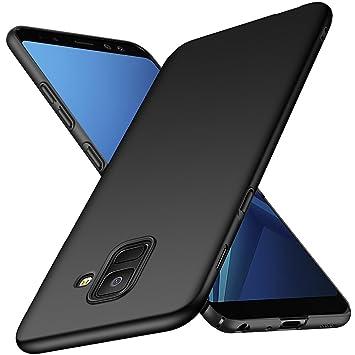 hot sale online e09fe 6cd79 Samsung Galaxy A8 2018 Case, TopACE Hybrid Rubberised Back Hard Case Slim  Hard Shell Case for Galaxy A8 2018 Smartphone (Black)
