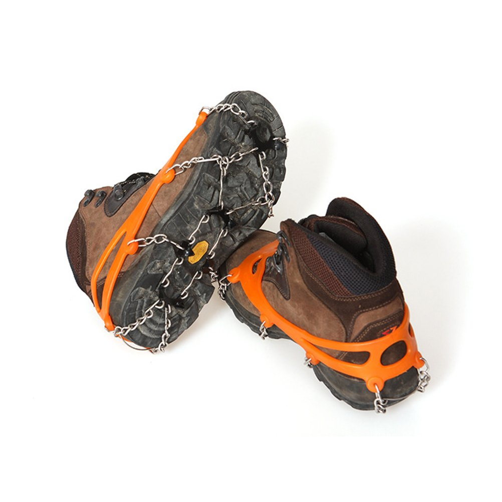 WINOMO Snow Shoes Grips Traction Cleats Ice Non Slip Crampons Spike Ski Ice Gripper Claws Antiskid Shoes Covers