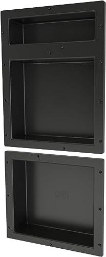 Tile Redi USA RNT1620DU-14 Niche Shower Shelf, 16 W x 34 H, Black