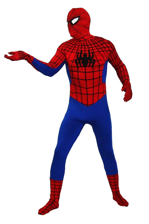 Spiderman Kostüm in Besteer Qualität Ganzkörperkostüm in rot Modell: ROT Spiderman Größe: XL