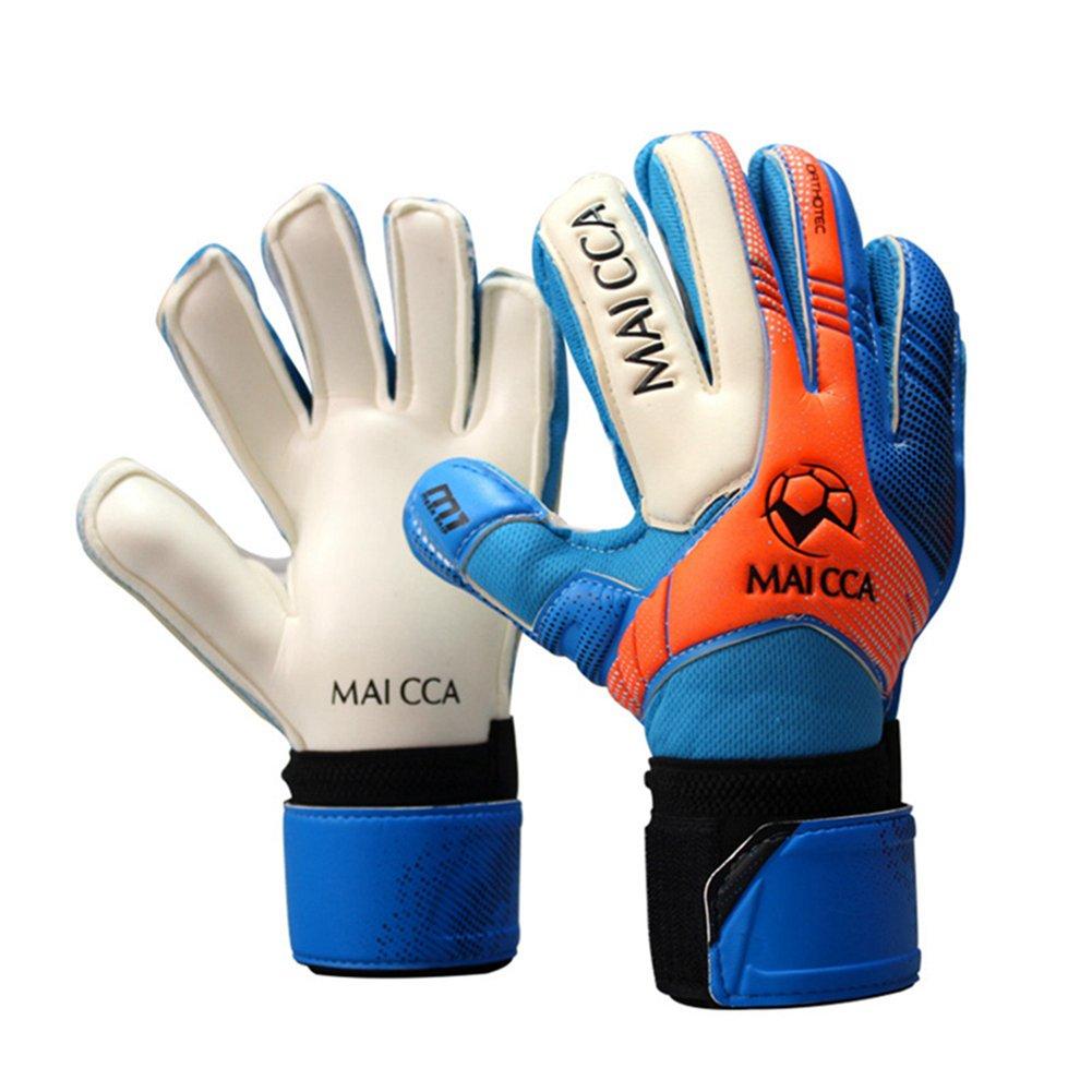 Professional Soccer Goalkeeper Glvoesラテックス指保護Fingerstall学校子供キッズサッカーゴールキーパーグローブ B0797SBQLF 5|ブルー ブルー 5