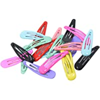FITYLE About 2'' Snap Clips No Slip Wrapped Hair Barrettes for Toddlers Girls Kids Women Hair Accessories (20pcs Assorted Solid Colors)
