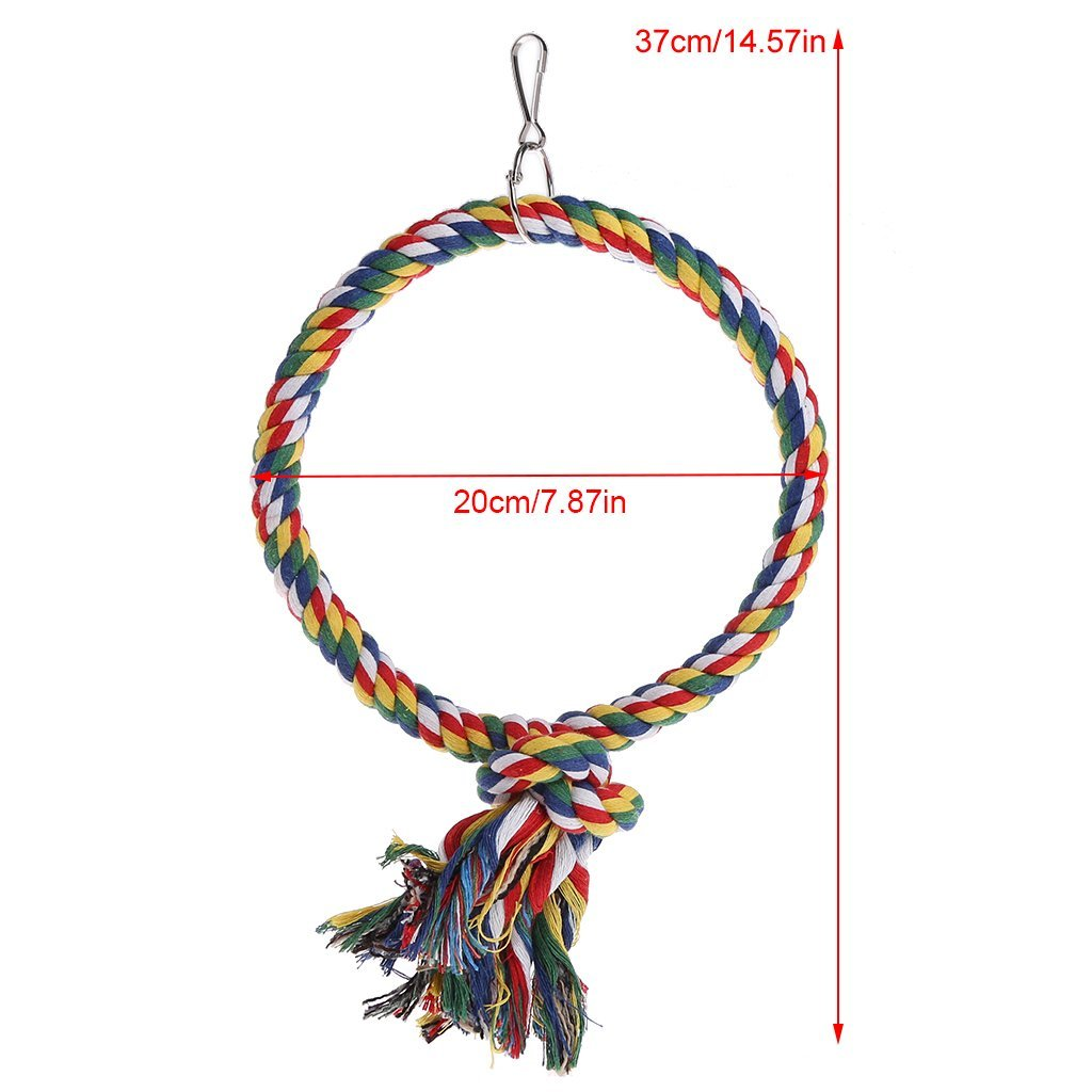 Pet Bird Parrot Swing Cage Toy Chew Bites For Parakeet Cockatiel Cockatoo Conure Premium Quality by Yevison