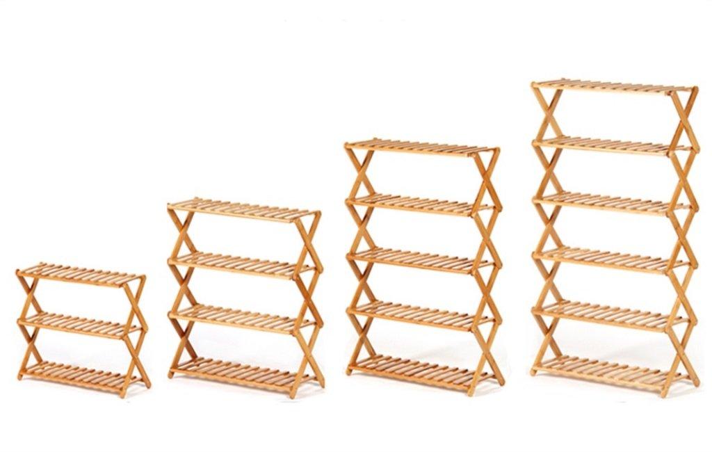 Estantería en la sala de de de estar Dormitorio Cocina Estante de zapatos de 4 niveles Madera maciza Almacenamiento simple de muebles Muebles Organizador de bambú Estantes Plegable Estante de decoración YYJRR-Estanterías de esquina ( 1163d0