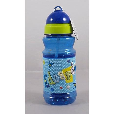 Botella Sport de plástico en relieve con texto a nombre ...