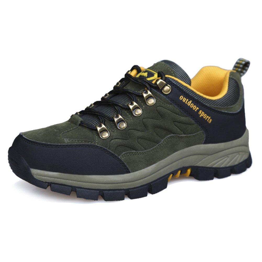 Herren Freizeitschuhe Dress Bergsteigen Herbst Outdoor Leise Unten Sport Schuhe Rutschen Schwarzbraun