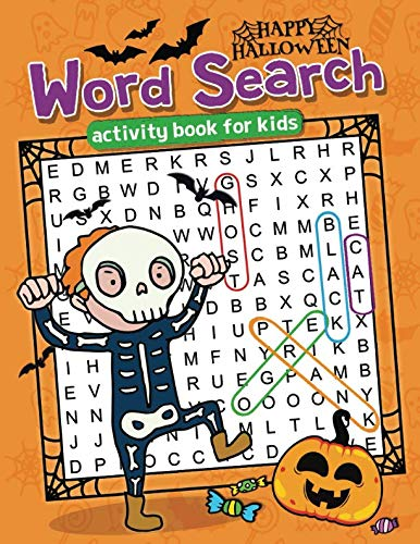 Happy Halloween Word Search: Easy and Fun Activity Book for Kids -