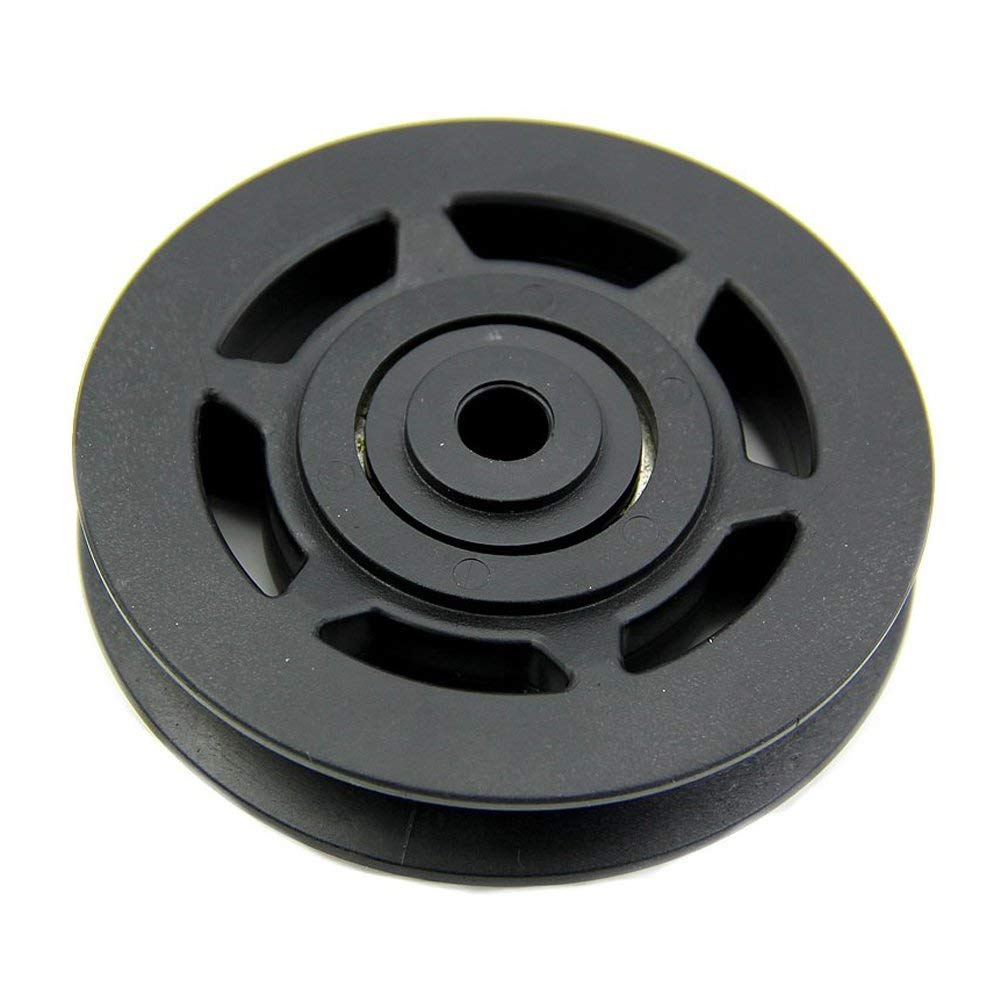 YaptheS 1 Pacchetto Rotella V-Slot Bearing Solid plastica Idler Pulley Cuscinetto di Alta tolleranza Fitness Equipment Parte 95Mm Nero Sport Accessori