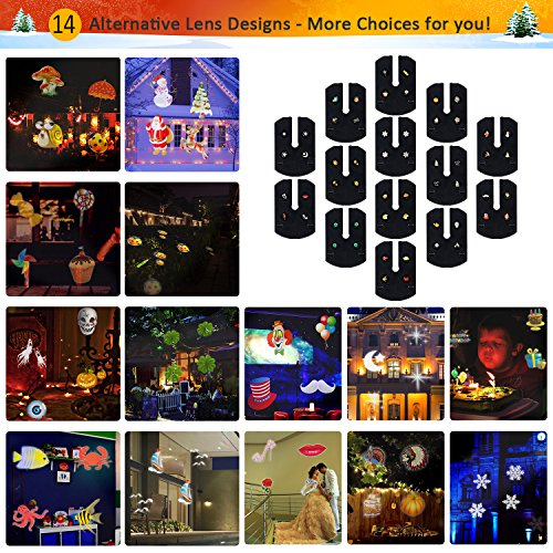 Diateklity LED Projector Light House Garden Lighting Show with 14 Festive Lights Designs for Halloween, Christmas, Waterproof & Heavy-Duty by Diateklity (Image #1)