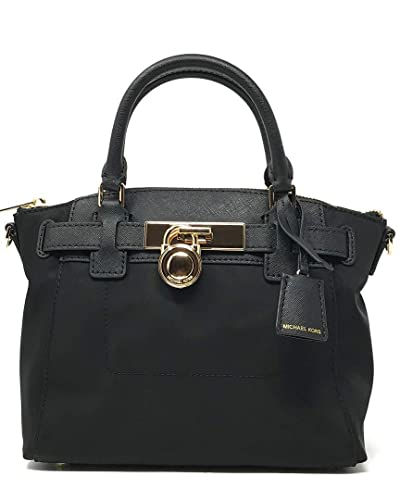 39f18be8cb3e Amazon.com  Michael Kors Hamilton Nylon MD Messenger Black (35T8GXNM2C)   Shoes
