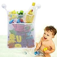 Bath Toy Organizer Bathroom Tub Storage - 3 Bonus Suction Cups Hook Machine W...