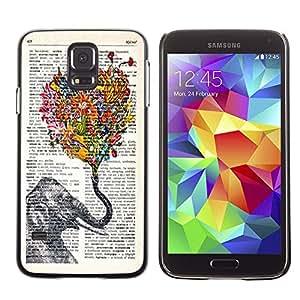 Dragon Case - FOR Samsung Galaxy S5 - elephant and petals - Caja protectora de pl??stico duro de la cubierta Dise?¡Ào Slim Fit
