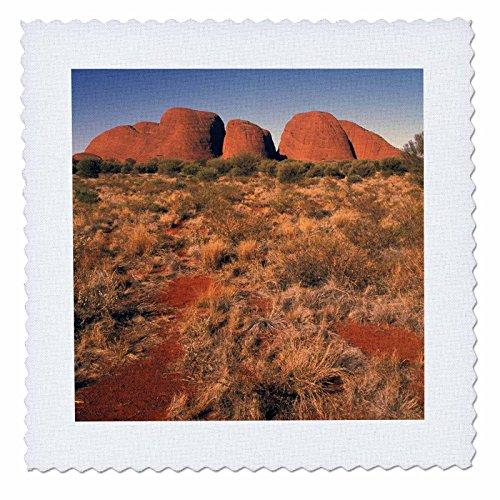 3dRose qs_69872_1 Australia, Uluru Kata Tjura, Outback, The Olgas-AU01 BBA0115-Bill Bachmann-Quilt Square, 10 by 10-Inch