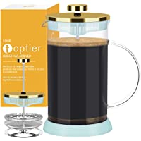 Small French Press, TOPTIER French Press Coffee Makers with 304 Stainless Steel Filter and Heat Resistant Borosilicate…